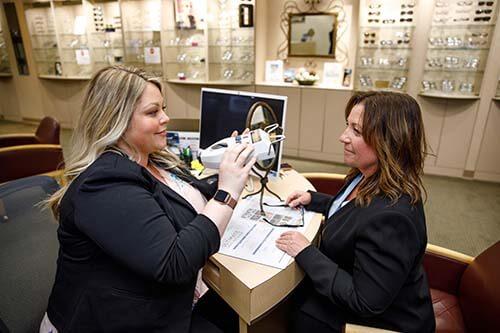 Woman Testing Glasses